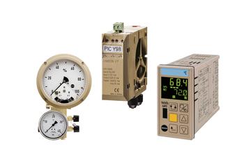Пневматические и электрические измерительные и регулирующие приборы
